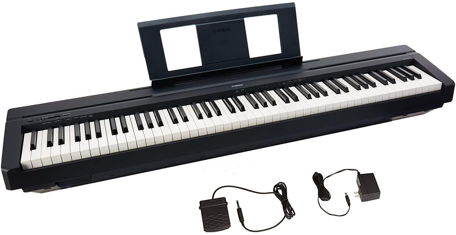 Yamaha P-45 88-Key Weighted Action Digital Piano, Black