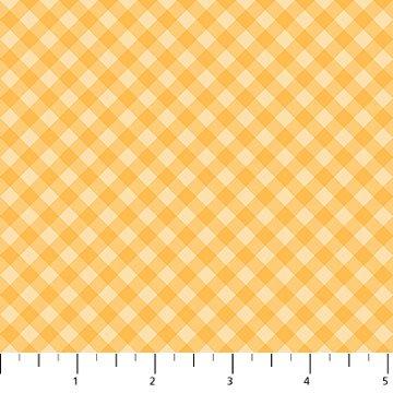 10042-52 - Northcott Charlotte's Garden Bias Gingham - Yellow