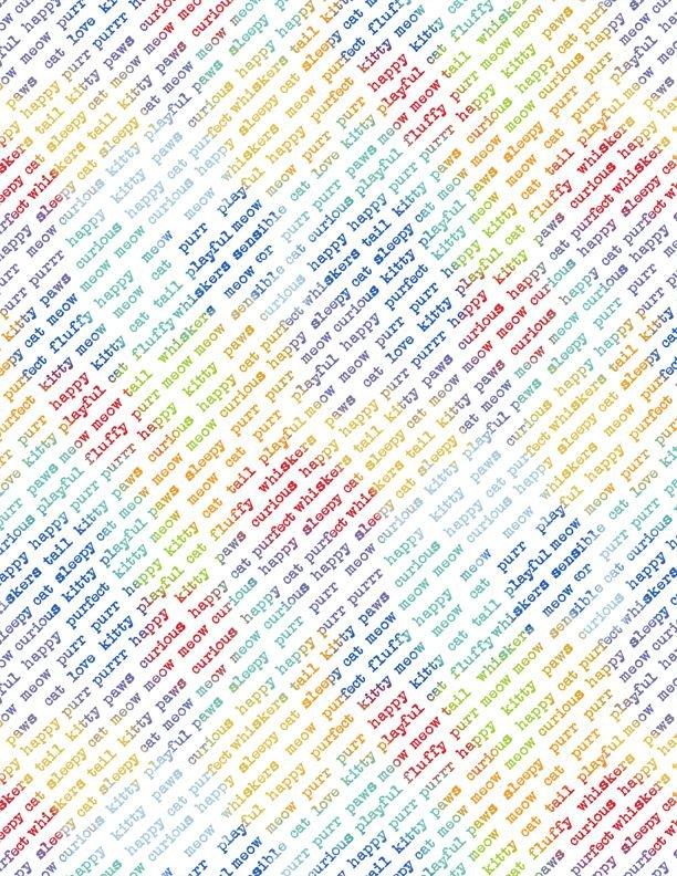 84451-134 - Wilmington Feeline Good Diagonal Words - White/Multi