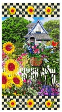10353 - Sykel Sunflower 24 x 45 Panel