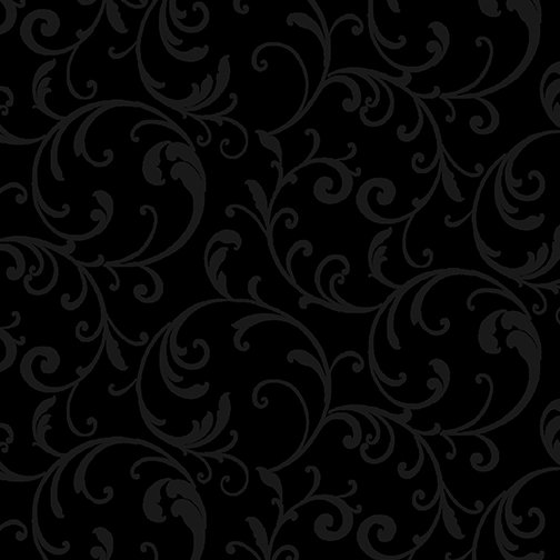 10403-12 - Kanvas Classic Scroll - Black