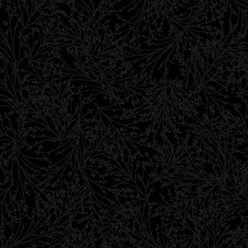 10407-12 - Kanvas Tossed Sprigs - Black