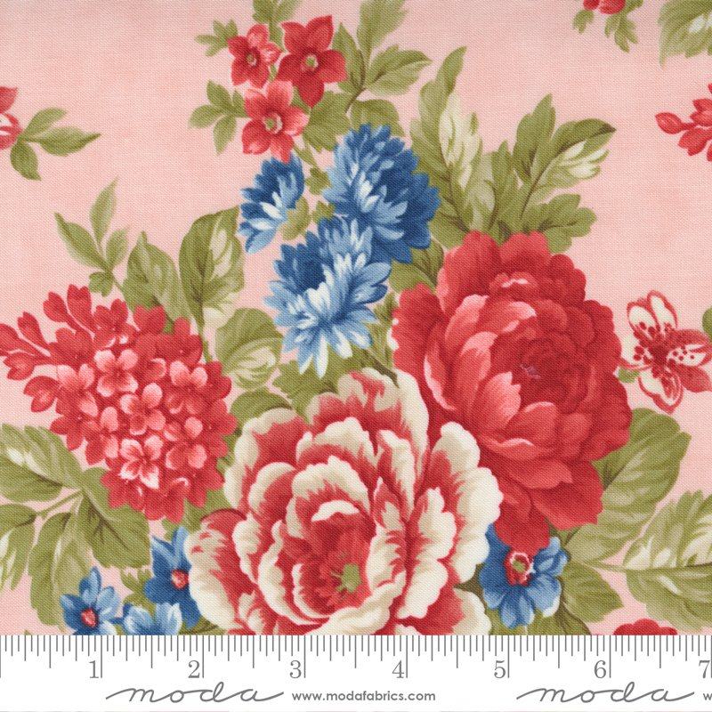 14920 17 - Moda Belle Isle Cabbage Roses - Pink