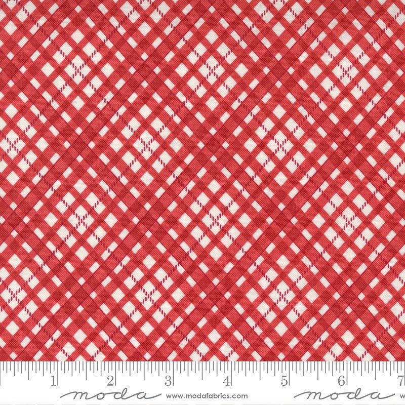 14924 12 - Moda Belle Isle Bias Plaid Check - Red