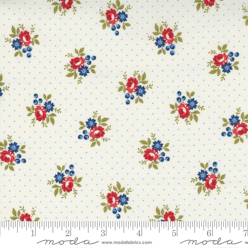 14925 11 - Moda Belle Isle Dotted Floral Ditzy - Cream