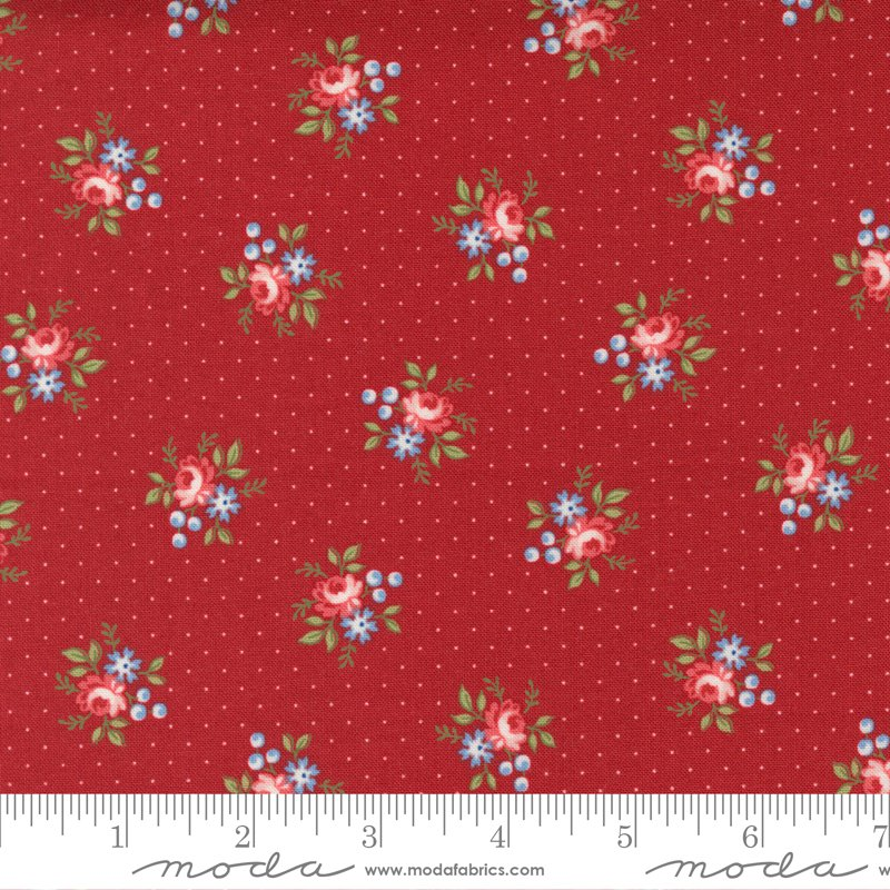 14925 12 - Moda Belle Isle Dotted Floral Ditzy - Red