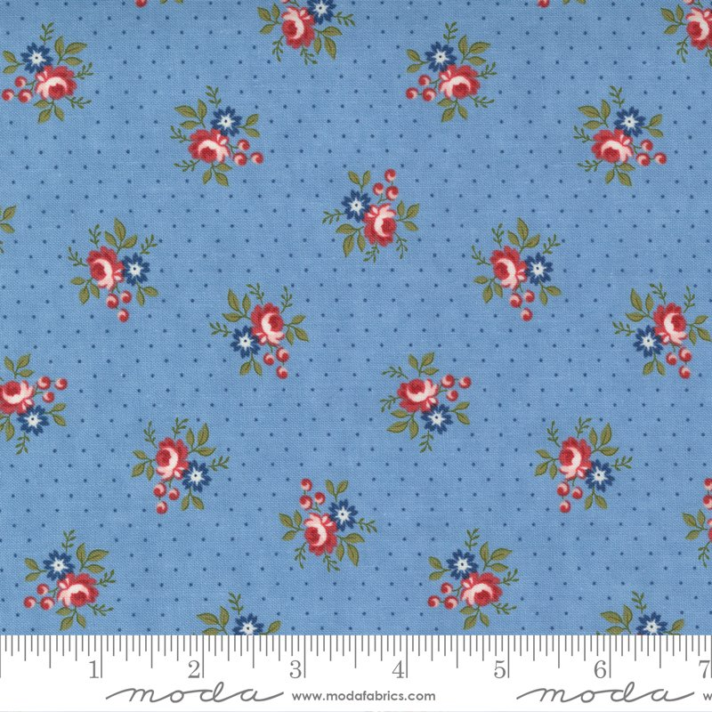 14925 14 - Moda Belle Isle Dotted Floral Ditzy - Sky