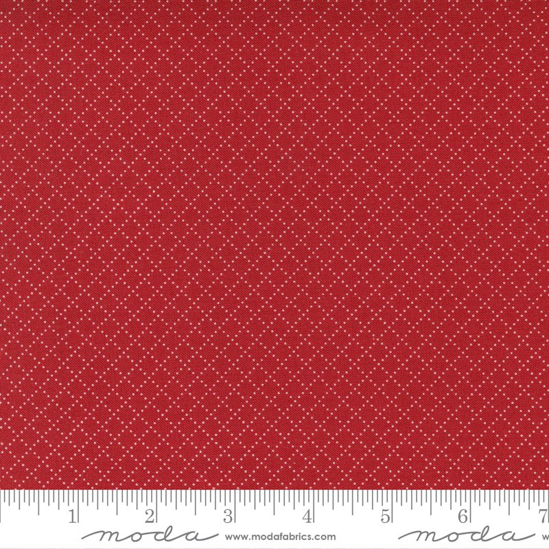14928 12 - Moda Belle Isle Dotted Grid - Red