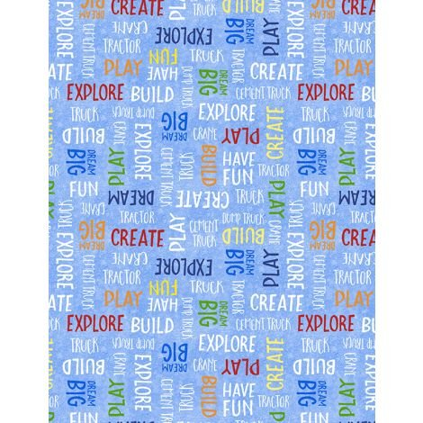 82643-413 - Wilmington Building Dreams Word Toss - Blue