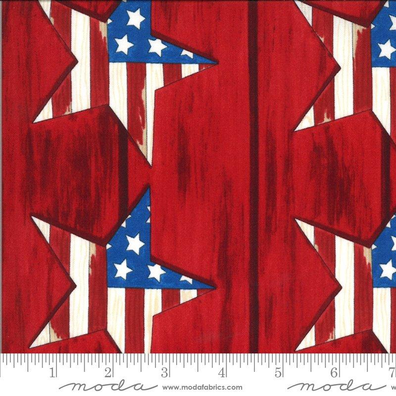 19981 11 Moda America the Beautiful Large Stars - Barnwood Red