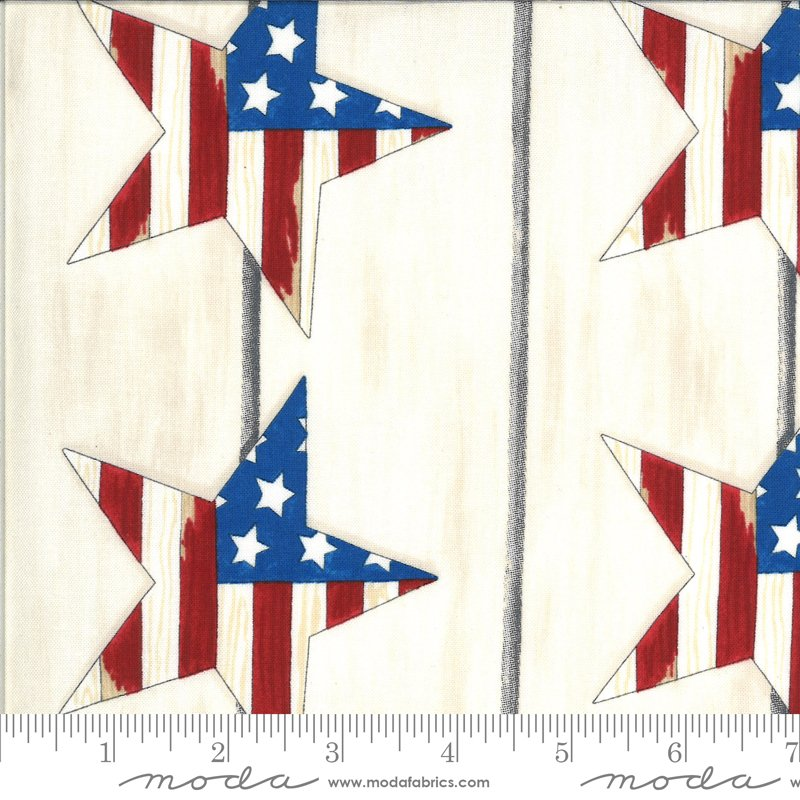 19981 12  Moda America the Beautiful Large Stars - White