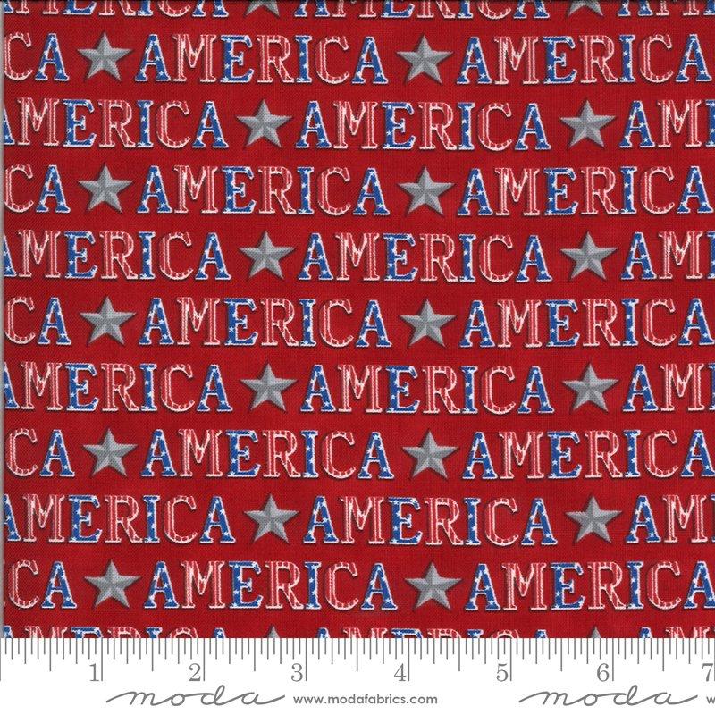 19983 11 Moda America the Beautiful American Type - Barnwood Red