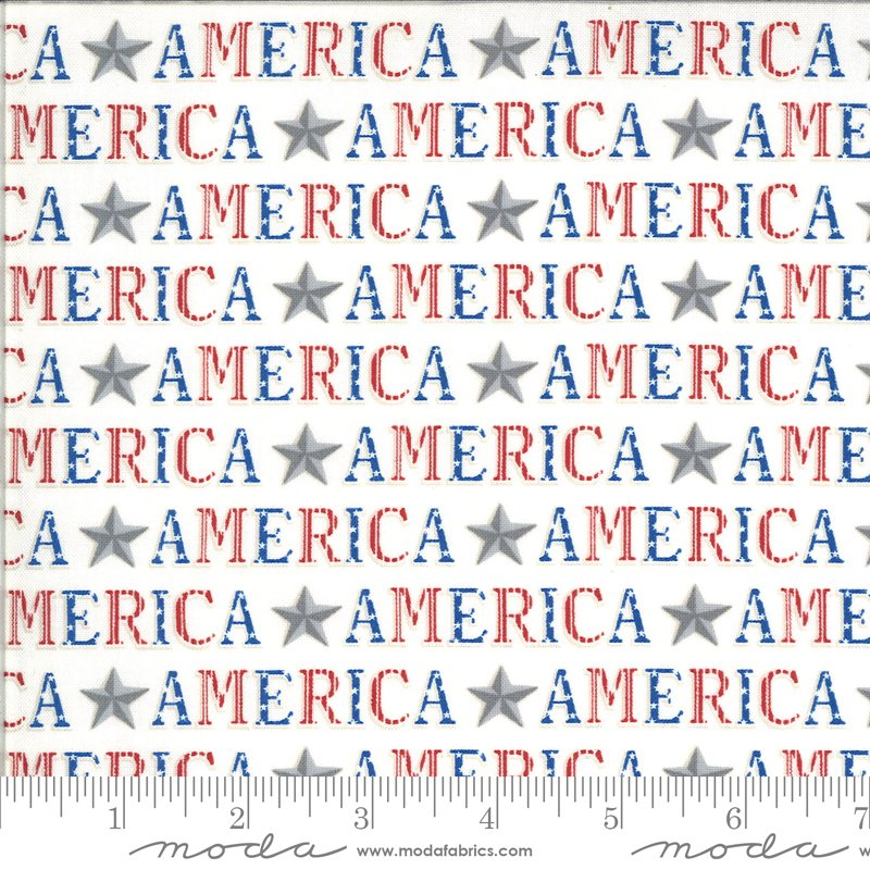 19983 12 Moda America the Beautiful American Type - White
