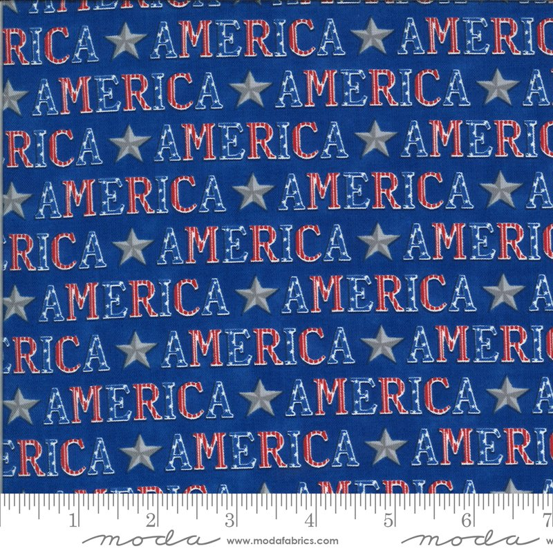 19983 14 Moda America the Beautiful American Type - Lake Blue