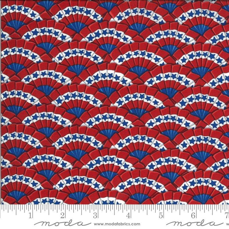19984 11 Moda America the Beautiful Bunting - Barnwood Red