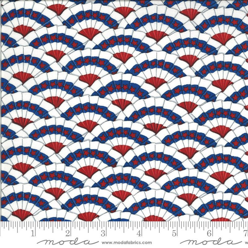 19984 12 Moda America the Beautiful Bunting - White