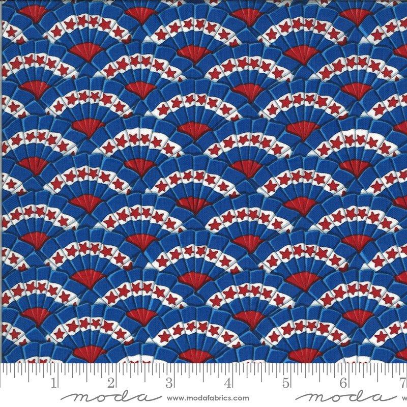 19984 13 Moda America the Beautiful Bunting - Lake Blue
