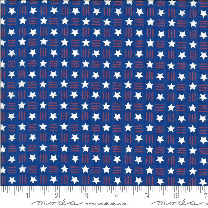 19987 14 Moda America the Beautiful Stars Stripes - Lake Blue