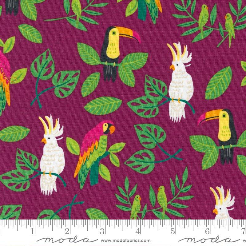 20782 17 - Moda Jungle Paradise Birds in Paradise - Magenta