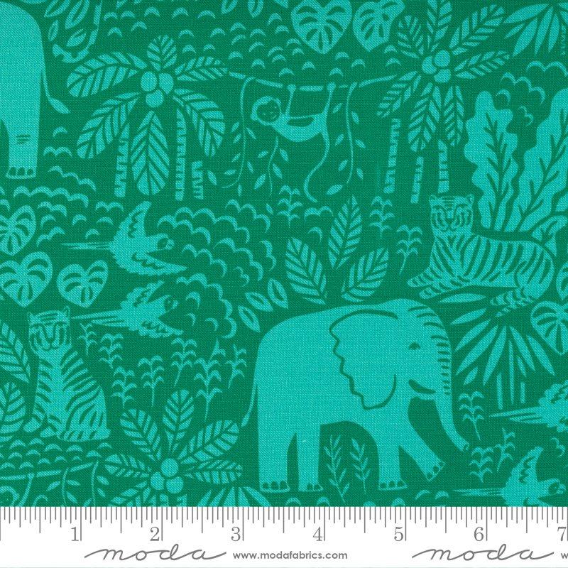 20785 21 - Moda Jungle Paradise Jungle Scene - Monstera