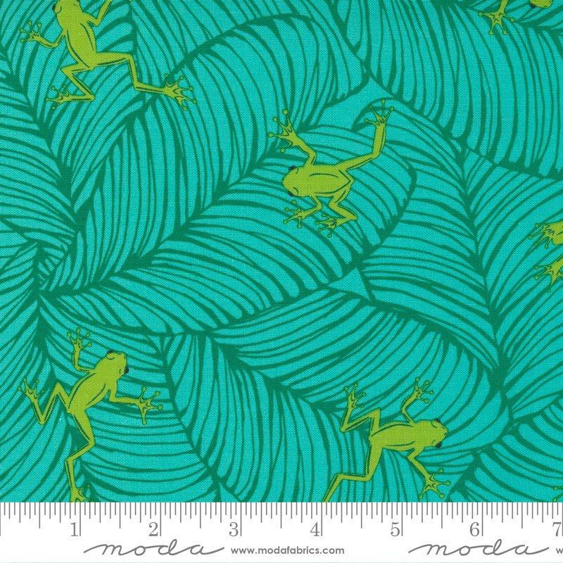 20786 18 - Moda Jungle Paradise Oh Froggy - Peacock
