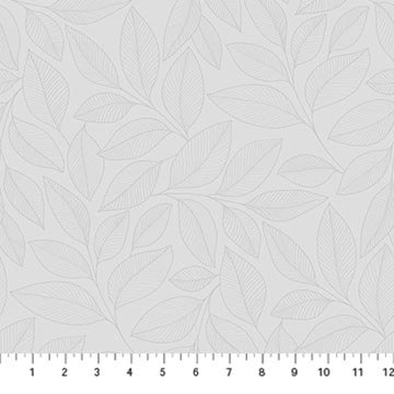 23913-92 - Northcott Simply Neutral II Large Leaf Toss - Gray