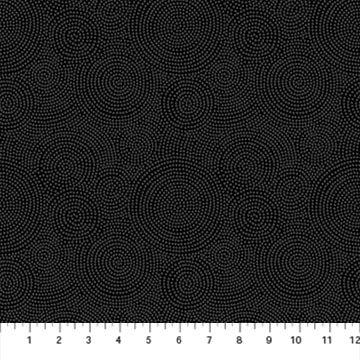 23918-98 - Northcott Simply Neutral II Circular Dots - Black