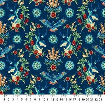 24231-44 - Northcott Prairie Meadow Prairie Princes - Blue