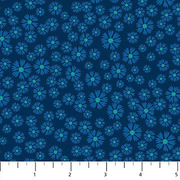 24236-44 - Northcott Prairie Meadow Blanket Flower - Blue