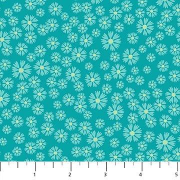24236-64 - Northcott Prairie Meadow Blanket Flower - Aqua