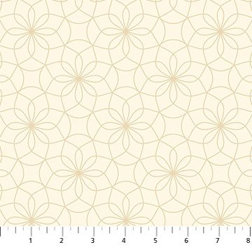 24237-11 - Northcott Prairie Meadow Glimmer Glade - Cream