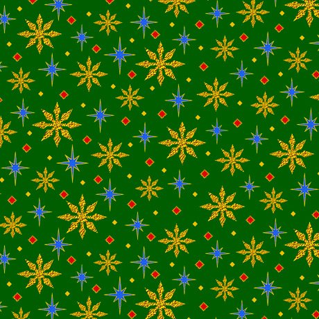 28272-G - Quilting Treasures The Nativity Stars - Green