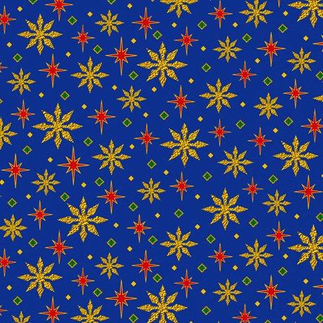 28272-Y - Quilting Treasures The Nativity Stars -Royal