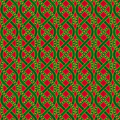 28273-RG - Quilting Treasures The Nativity Braids - Red/Green