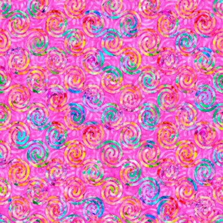 28329-P - Quilting Treasures Brilliance Diagonal Scroll - Pink