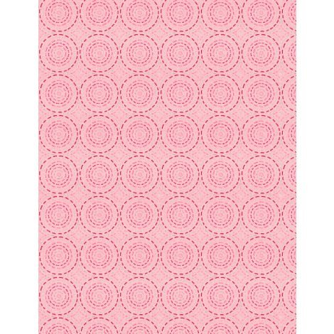 27621-331 - Wilmington Sew Little Time Quilting Circles - Pink