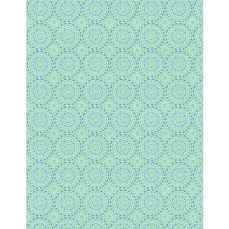 27621-447 - Wilmington Sew Little Time Quilting Circles - Light Teal
