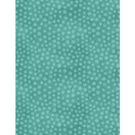27622-447 - Wilmington Sew Little Time Tiny Floral - Teal