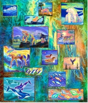 4391-PA - P&B Magnificent Animals Panel - 50 x 42