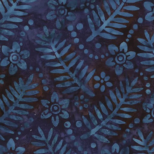 4428-59 - Benartex Batik Palm & Floral - Nightfall
