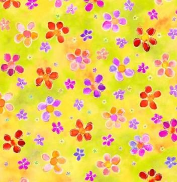 4430-MU - P&B Living Farm Flowers - Yellow/Multi