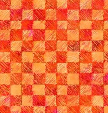 4433-O - P&B Living Farm Checks - Orange