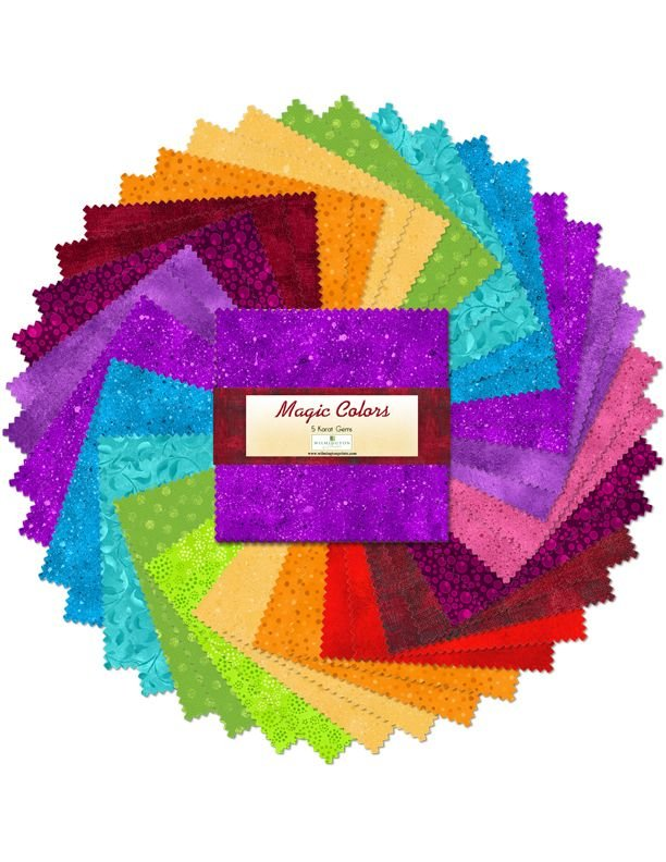Wilmington Magic Colors Charm Pack - 5 squares