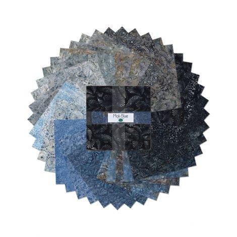 511-87-511 - Wilmington Batiks Mali-Blue 10 Karat Crystals - 10 squares