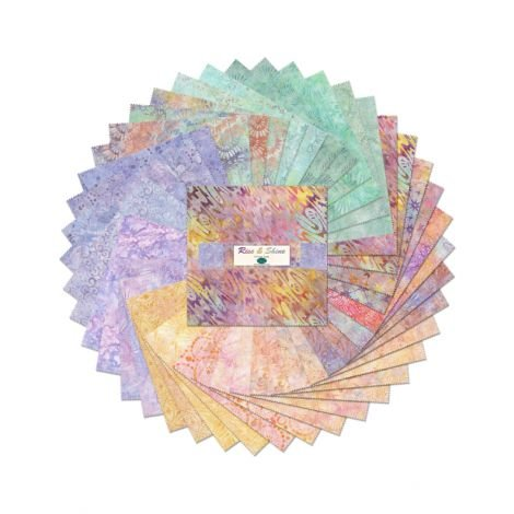 511-89-511 - Wilmington Batiks Rise & Shine 10 Karat Crystals - 10 squares