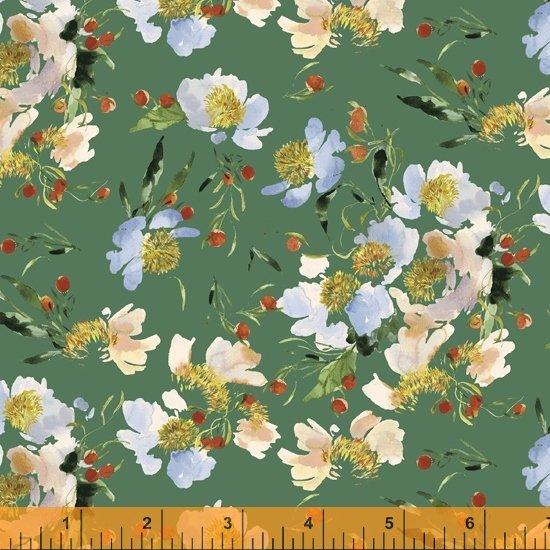 52253-8 - Windham Wildflower Clair De Lune - Spruce