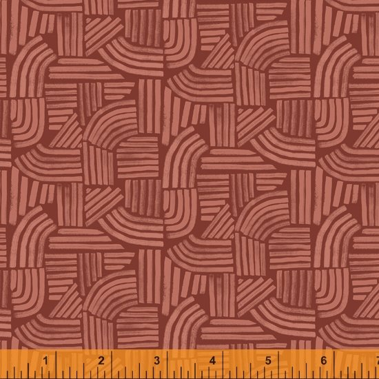 52254-5 - Windham Wildflower Linear - Cinnabar