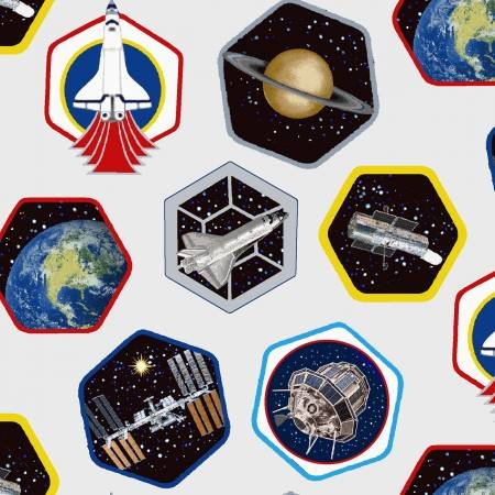 5307S-09 - Studio E Planetary Missions Patches - Multi