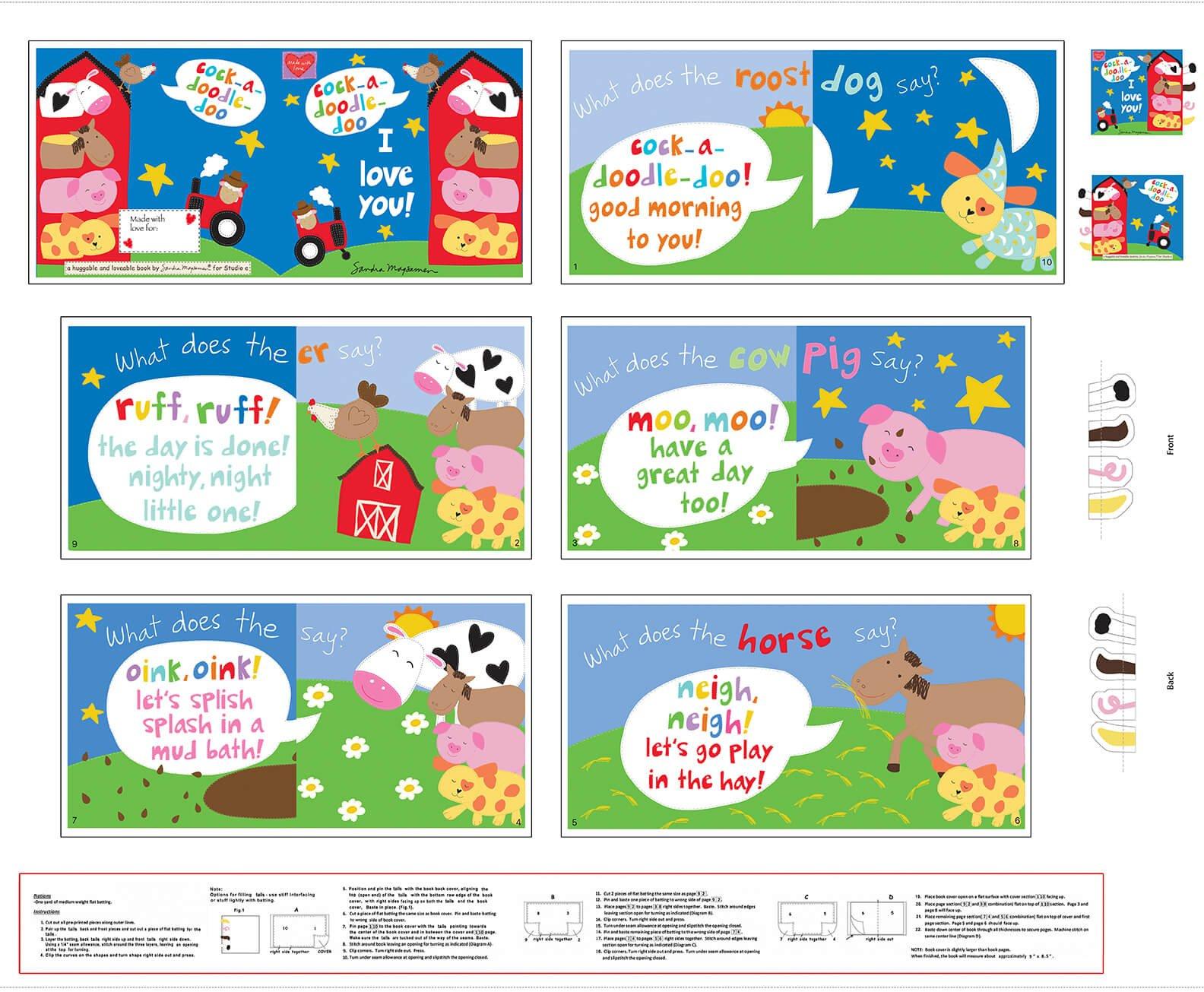 5531P-1 - Studio E Huggable & Loveable IX Book Panel - Farm