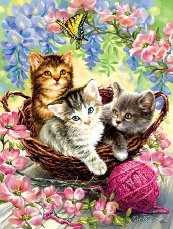 Kittens & Flowers Jigsaw Puzzle - 500 pcs.